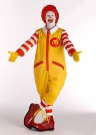 About Ronald the Clown in Mcdonald Advertising