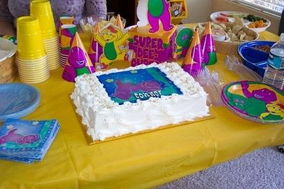Organizing Barney Birthday Parties