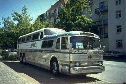 Riding Bus Greyhound