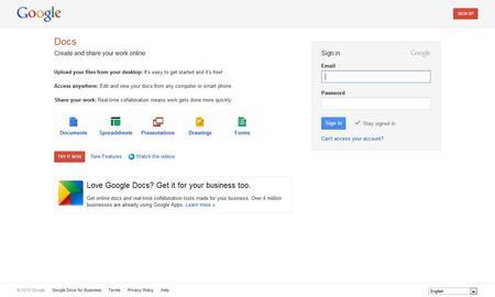Using Google Online Documents