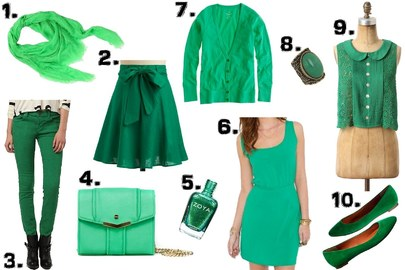 Tips For Matching Green Clothing With Accessories